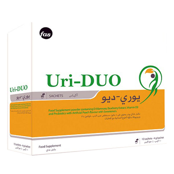 Picture of Uri-duo with artificial peach flavour 10 sachets